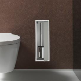 Emco Asis concealed module for toilet brush set aluminium/optiwhite