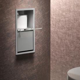 Emco Asis concealed module for toilet paper aluminium/optiwhite