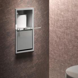 Emco Asis concealed module for toilet paper chrome/optiwhite