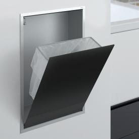 Emco Asis concealed waste bin module black/aluminium