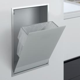 Emco Asis concealed waste bin module optiwhite/aluminium