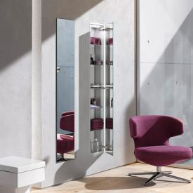 Emco Asis concealed cabinet module with mirrored door mirrored/aluminium