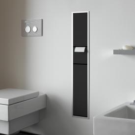 Emco Asis concealed guest toilet module black/aluminium