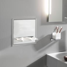Emco Asis concealed paper towel dispenser module aluminium/optiwhite