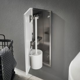 Emco Asis Pure recessed toilet brush set module matt white