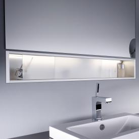 Emco Asis shelf module illuminated, built-in version satin/aluminium