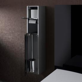 Emco Asis wall-mounted toilet module black/aluminium