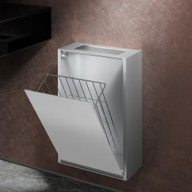 Emco Asis wall-mounted waste bin module aluminium/optiwhite