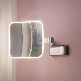 Emco Evo LED shaving and beauty mirror with direct connection chrome
