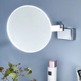 Emco Evo LED shaving and beauty mirror with direct connection and emco light system chrome