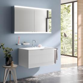 Emco Evo wall-mounted mirror cabinet with LED lighting aluminium, without lighting system