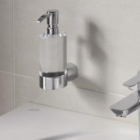 Emco Fino liquid soap dispenser, wall-mounted