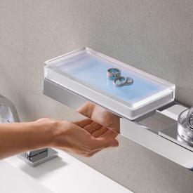 Emco Liaison liquid soap dispenser for rail