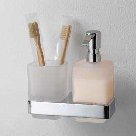 Emco Loft soap dispenser and tumbler set