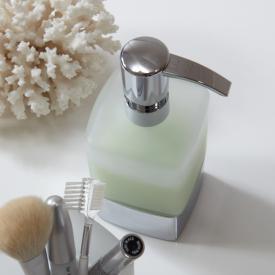 Emco Loft liquid soap dispenser, freestanding chrome