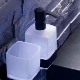 Emco Loft liquid soap dispenser, wall-mounted black