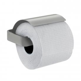 Emco Loft toilet roll holder with cover stainless steel look