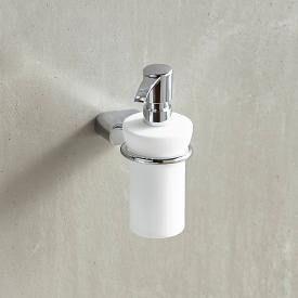 Emco Logo2 liquid soap dispenser made of opal glass