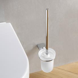 Emco Logo2 toilet brush set made of crystal glass