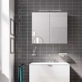 Emco Mee Armoire de toilette en applique avec éclairage LED, 2 portes