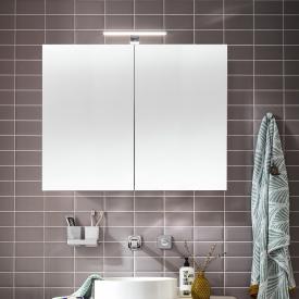 Emco Mee wall-mounted LED illuminated mirror cabinet, 2 doors
