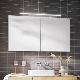 Emco Mee wall-mounted LED illuminated mirror cabinet, 2 doors