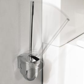 Emco Mundo toilet brush set container plastic chrome, wall-mounted