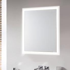 Emco Prime built-in LED illuminated mirror cabinet aluminium/mirrored
