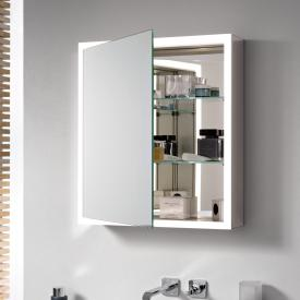 Emco Prime mounted LED illuminated mirror cabinet with light package aluminium/mirrored