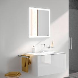 Emco Prime recessed LED illuminated mirror cabinet aluminium/mirrored