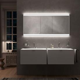 Emco Prime2 Armoire de toilette encastrée avec éclairage LED, 3 portes