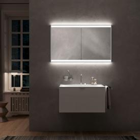 Emco Prime2 recessed LED illuminated mirror cabinet, 2 doors