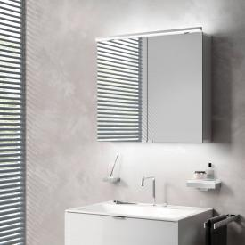 Emco Pure wall-mounted illuminated mirror cabinet with washbasin lighting