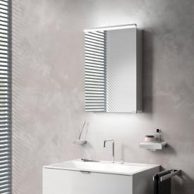 Emco Pure_Flat wall-mounted illuminated mirror cabinet with washbasin lighting