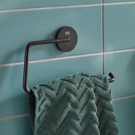 Emco Round towel ring matt black