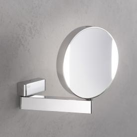 Emco Universal LED shaving / beauty mirror, round, wall-mounted, with direct connection chrome