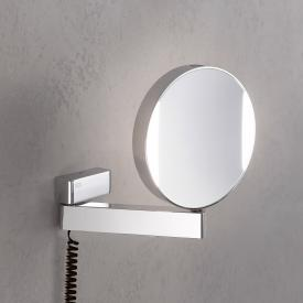 Emco Universal LED shaving / beauty mirror, round, wall-mounted, with helix cable and socket chrome