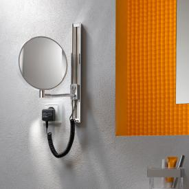 Emco Universal LED shaving / beauty mirror, round, wall-mounted, with slide rail