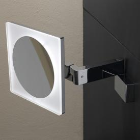 Emco Universal LED shaving / beauty mirror, square, wall-mounted, with 5x magnification chrome