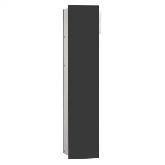 Emco Asis 2.0 recessed module black, hinged right