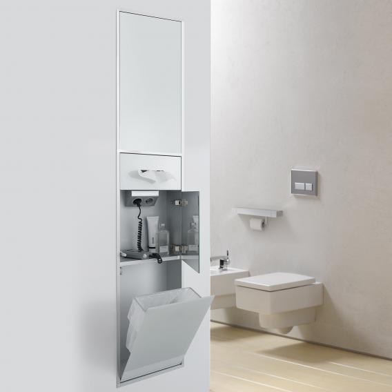 Emco Asis built-in cosmetic module optiwhite/aluminium
