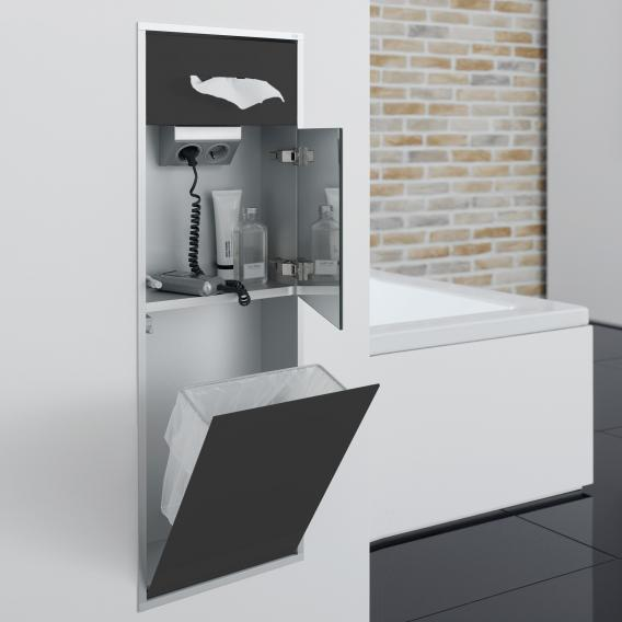 Emco Asis built-in cosmetic module black/aluminium