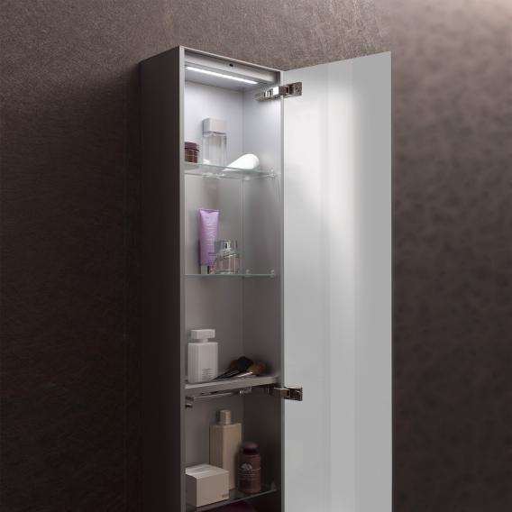 Emco Asis wall-mounted cabinet module optiwhite/aluminium
