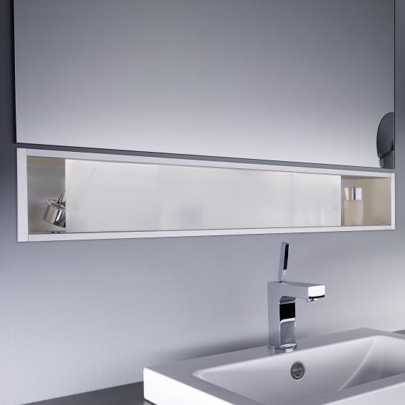 Emco Asis concealed shelf module satin/aluminium