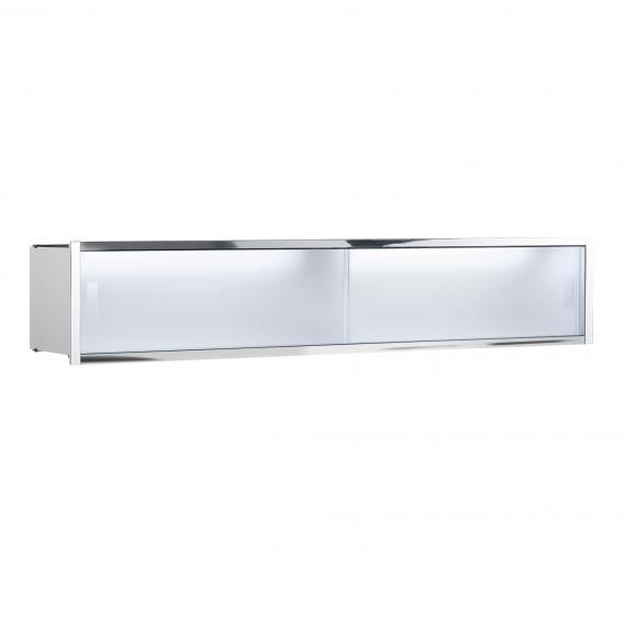 Emco Asis shelf module illuminated, built-in version satin/chrome