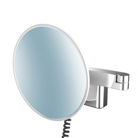 Emco Universal LED shaving and beauty mirror with spiral cable, plug and emco light system chrome