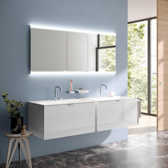 Emco Evo Recessed Mirror Cabinet With, Bathroom Mirrored Cabinets
