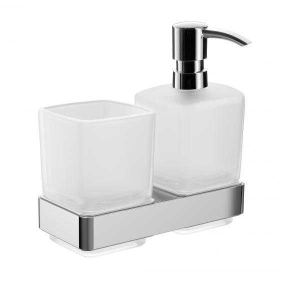 Emco Loft soap dispenser and tumbler set