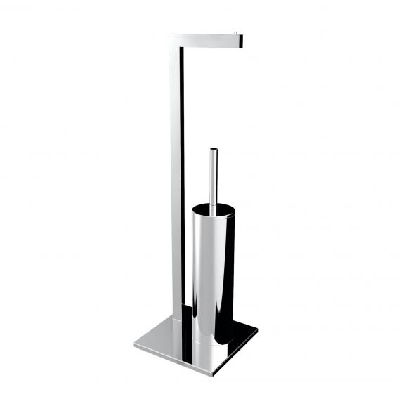 Emco Loft Toilet roll holder and covered toilet brush stand