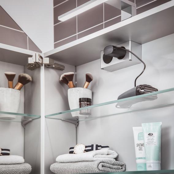 Emco Mee wall-mounted LED illuminated mirror cabinet, 1 door